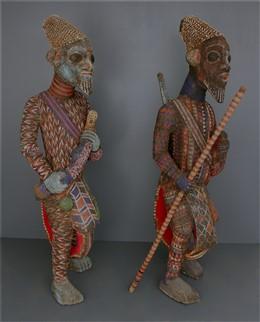 Couple of great beaded warriors Bamiléké